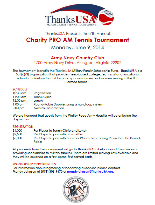 ThanksUSA Tennis Pro-Am Tournament 2014
